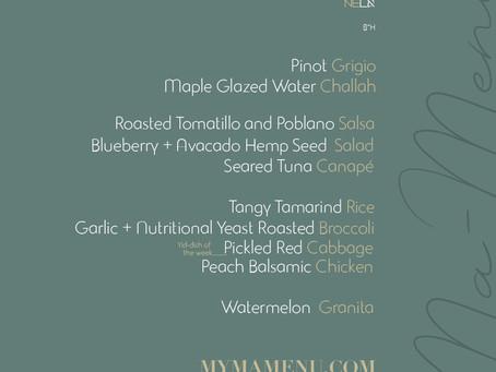 Shabbat menu 7.12.19