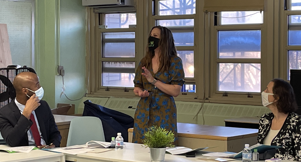 Principal Paige presenting