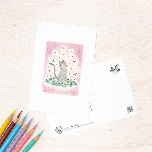 """ポストカード """"猫の子ミナの水晶石"""" PC-248"""