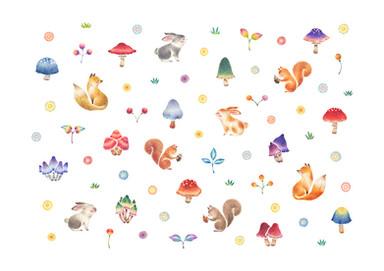 blury-preloadresized-preloadきのこの森の動物たち blury-preloadresized-preload花びら No.2 きのこの森の動物たち