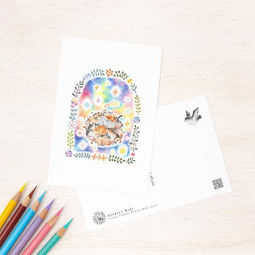 """ポストカード """"ねむり猫の星"""" PC-336"""