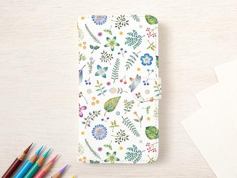 """3種類の新作の手帳型スマホケース """"和の色とりどり"""" ができました"""