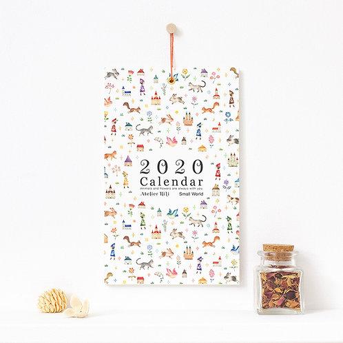 """2020年 壁掛け カレンダー """"ちいさな せかい"""" CA-A5T20"""