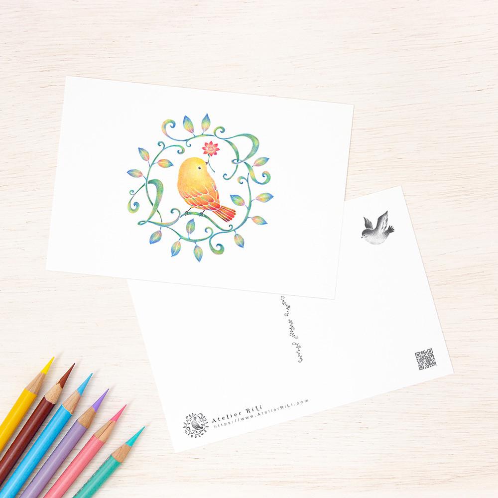 """""""黄色い鳥と蔓 Ver. 4"""" PC-474"""
