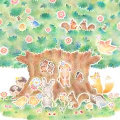"""""""動物たちの大きな木の家 No. 2""""のアトリエの写真"""
