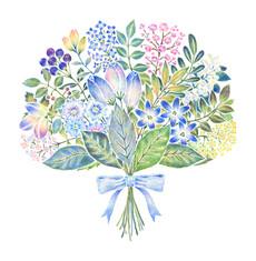 青色の花束 No. 2