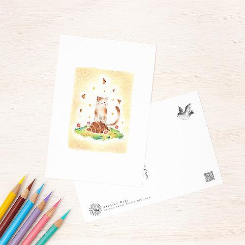"""ポストカード """"猫の子ニコのクロワッサン"""" PC-116"""