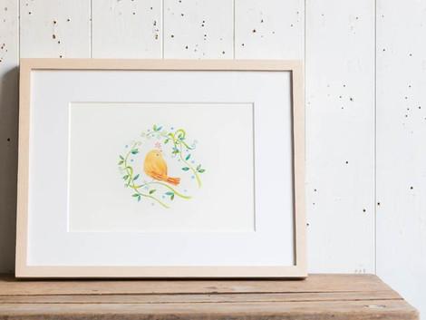 アトリエ リリ 個展「鳥の声 花の詩 詩画集原画展」の展示風景を開催します