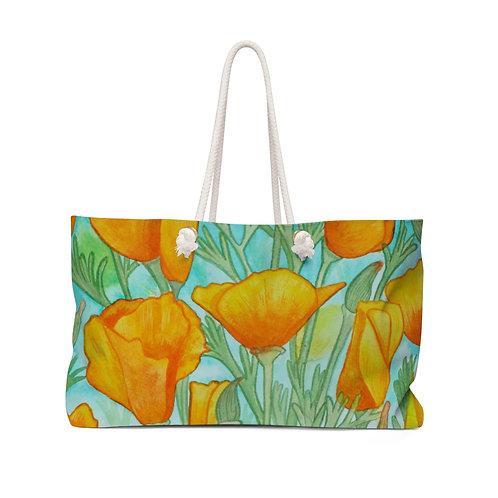 California Poppies in Ink Weekender Bag