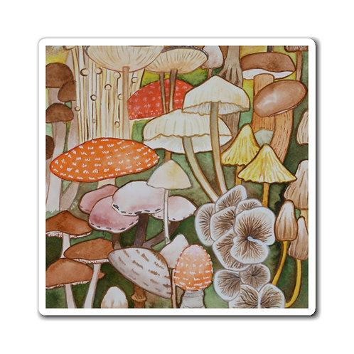 Mushroom Ink Study Magnets