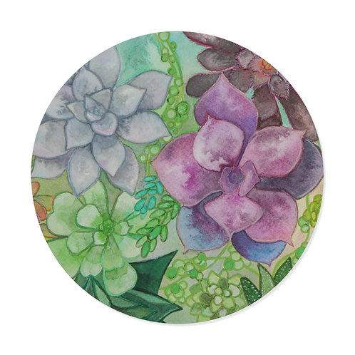 Succulent Ink Study Round Vinyl Stickers