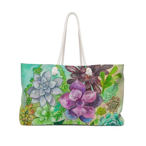 Succulents Ink Study Weekender Bag
