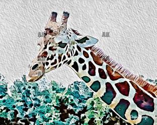 """giraffe #2"" paint style"