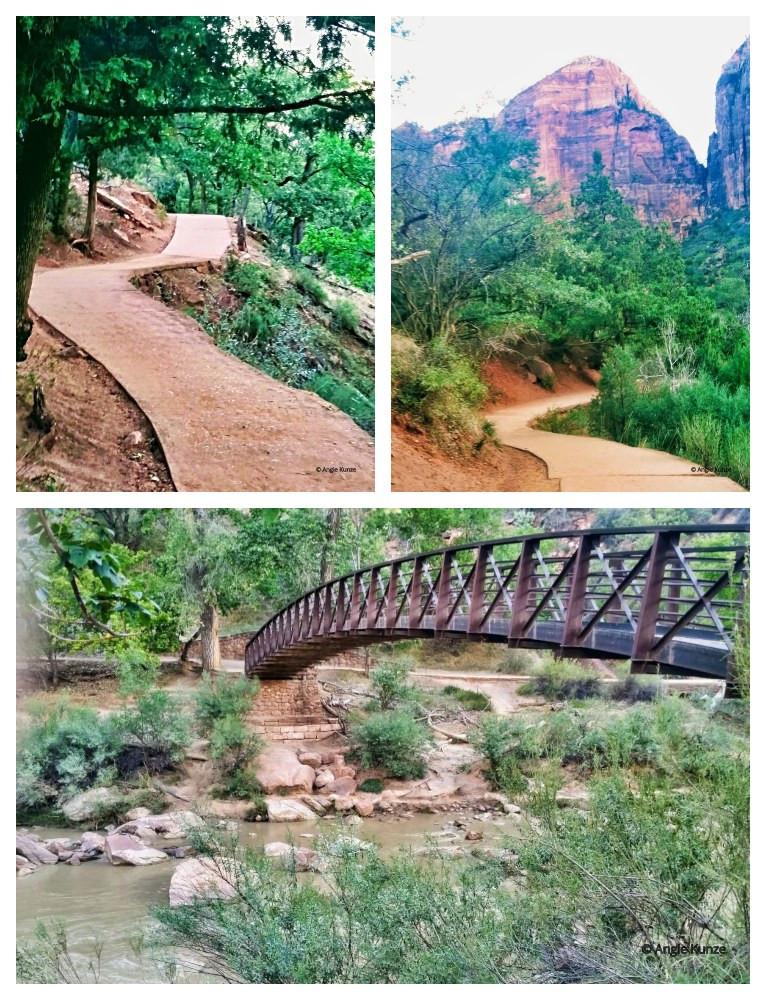Emerald Pools hiking trail zion national park in Utah