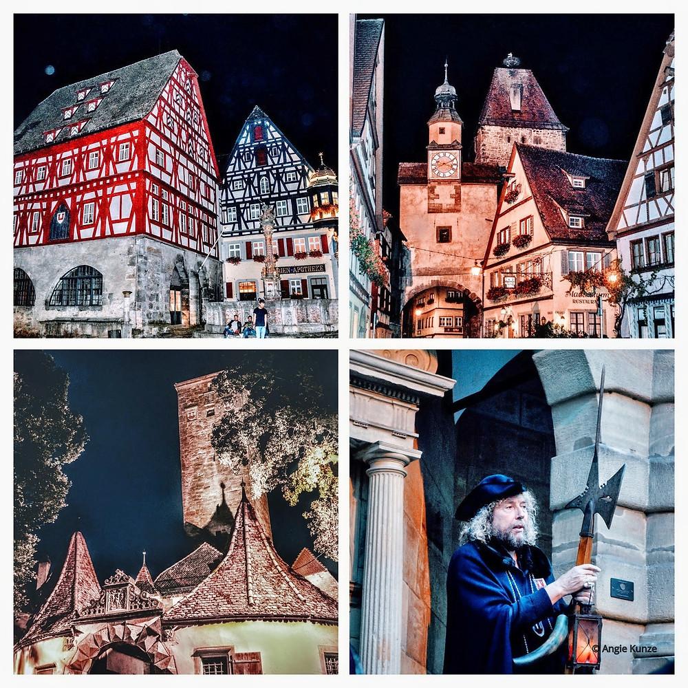 The Night Watchman's Tour, Rothenburg ob der Tauber, Bavaria Germany, after dark.