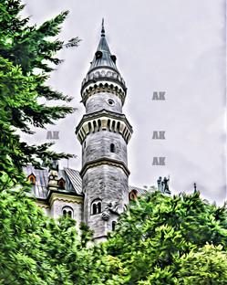 neuschwanstein turret, germany