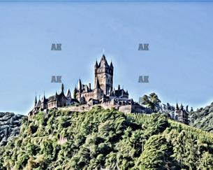 """reichsburg castle #3"" cochem germant"