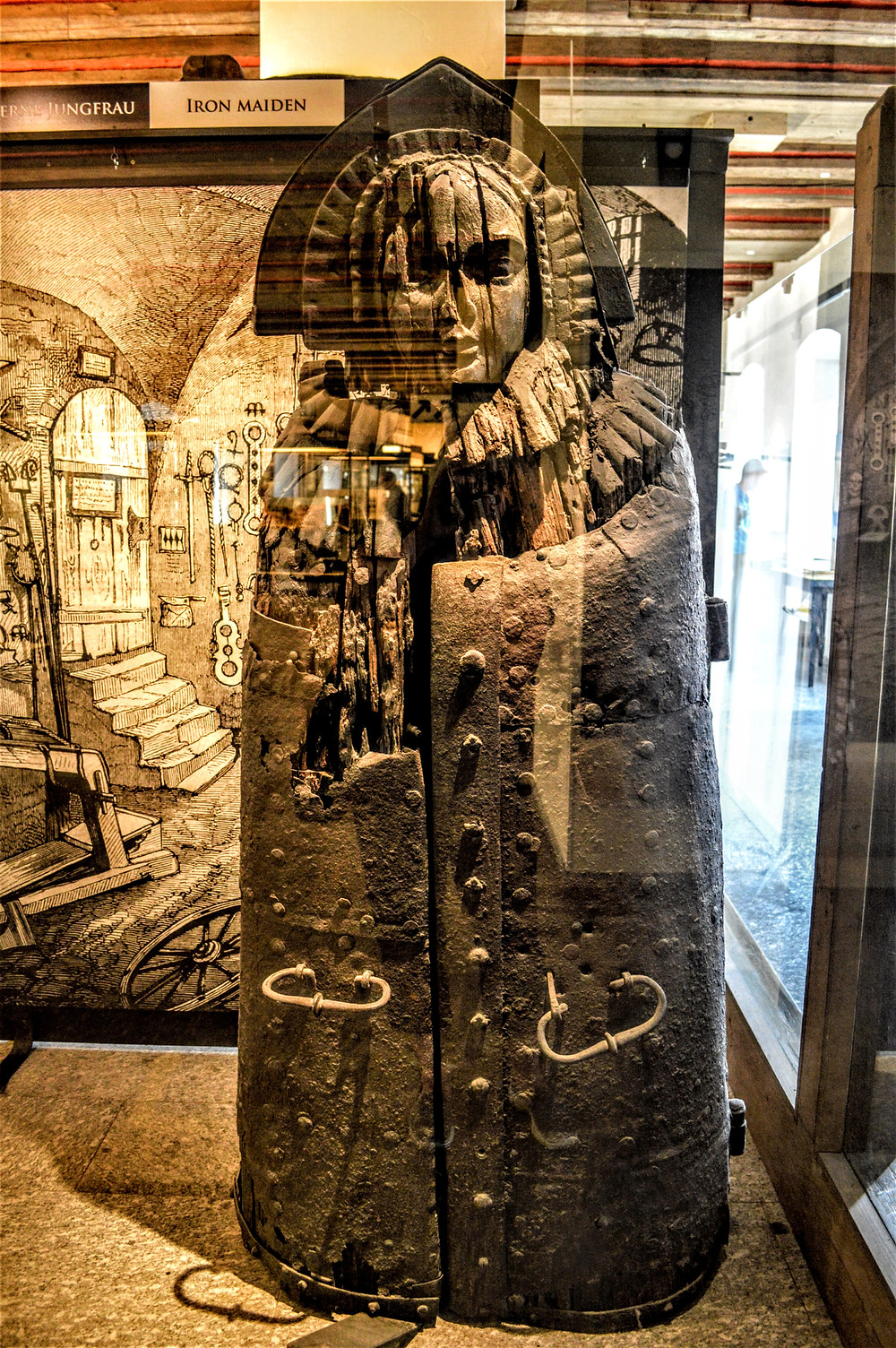 Iron Maiden, Medieval Crime and Justice Museum, Rothenburg ob der Tauber, Bavaria Germany, creepy torture stuff