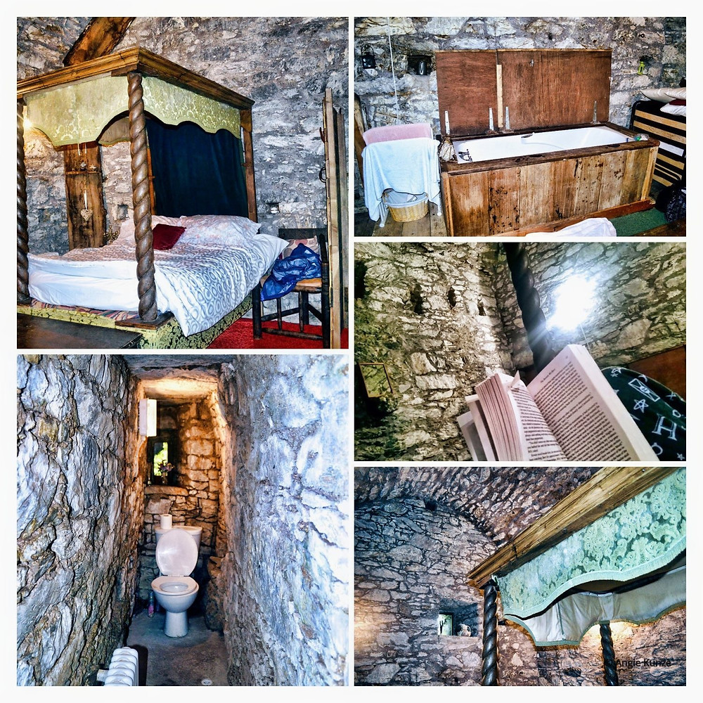 a bedroom fit for kings and queens at Ballintotis Castle, Ireland