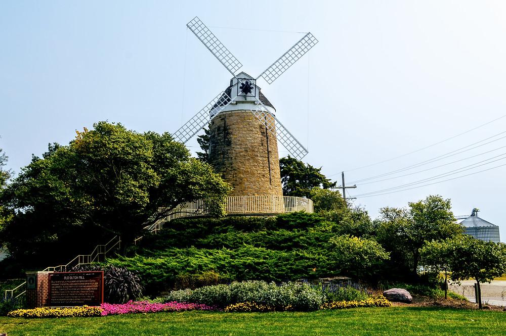 Schonhoff Dutch Mill, Wamego City Park, Pottawatomie County, travel visit Kansas