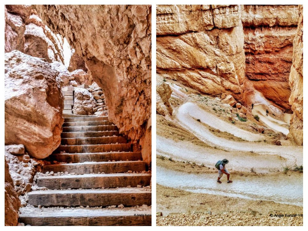 Wall Street Trail on the Navajo Loop Trail Bryce Canyon National Park Utah Hiking