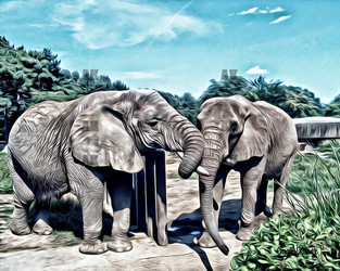 """""""elephants"""" graphic style"""