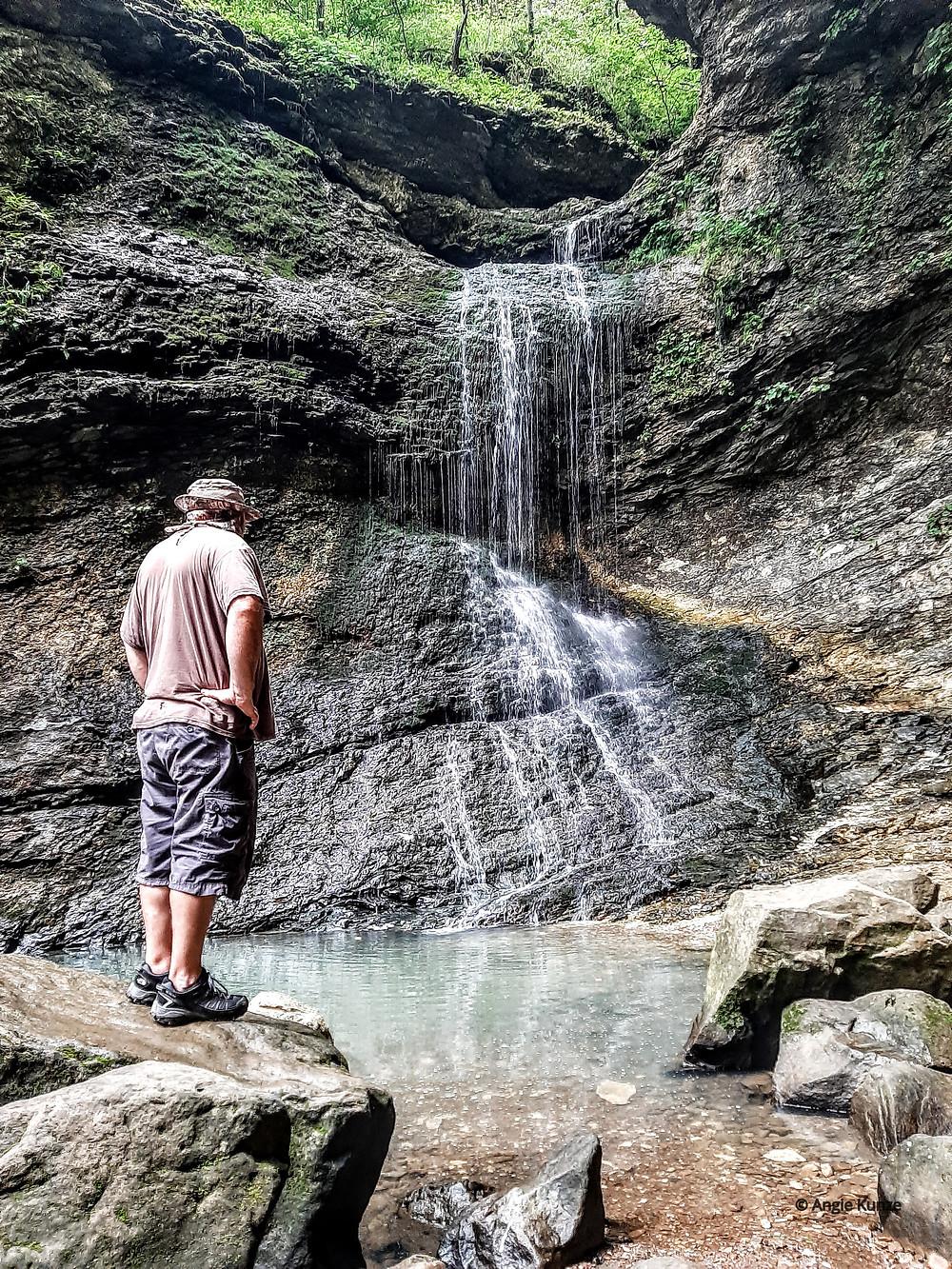 Lost Valley hiking trail, Buffalo River National Park near Ponca Arkansas waterfall