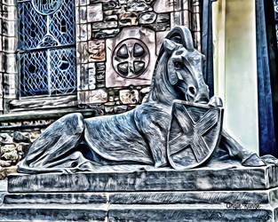 edinburgh castle horse, scotland