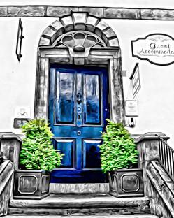 """""""blue door"""" kilkenny ireland"""