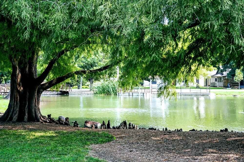 Wamego City Park pond, Pottawatomie County Kansas, visit travel Kansas