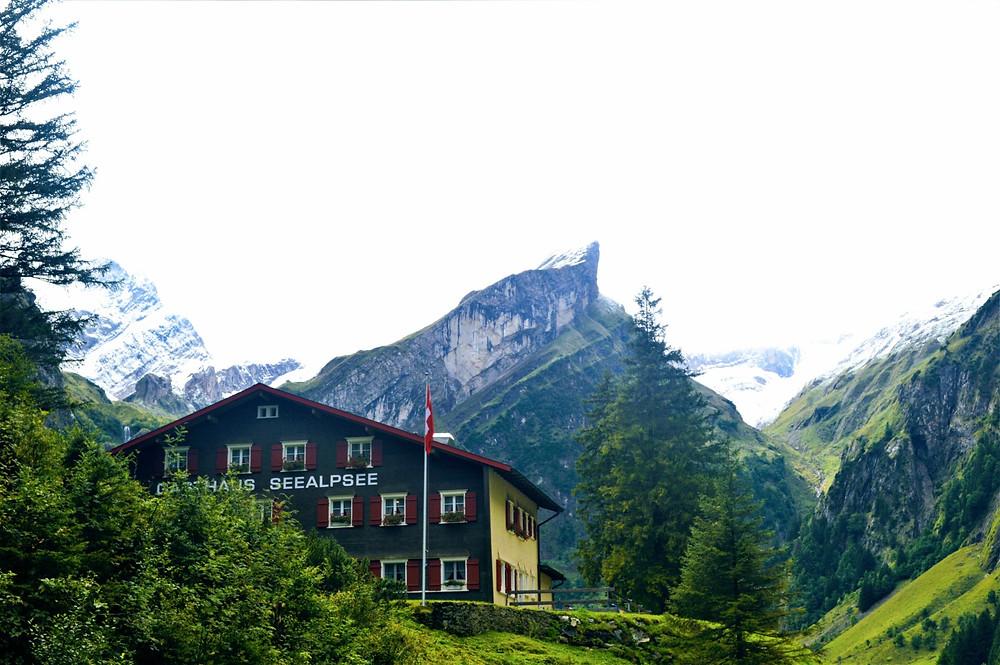 Berggasthaus Seealpsee, mountain retreat Switzerland