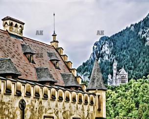 """hohenschwangau & neuschwanstein castles"" schwangau germany"
