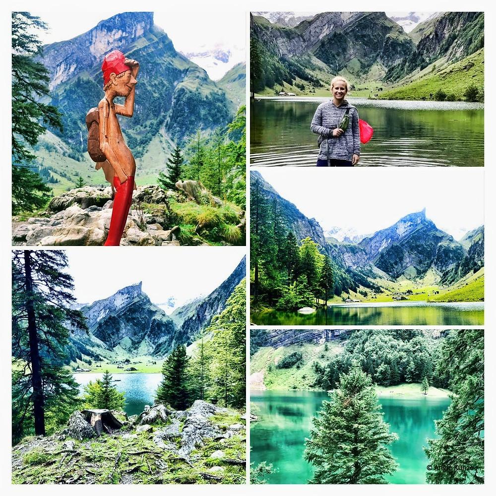Seealpsee Lake, Ebenalp Mountain Wasserauen Switzerland
