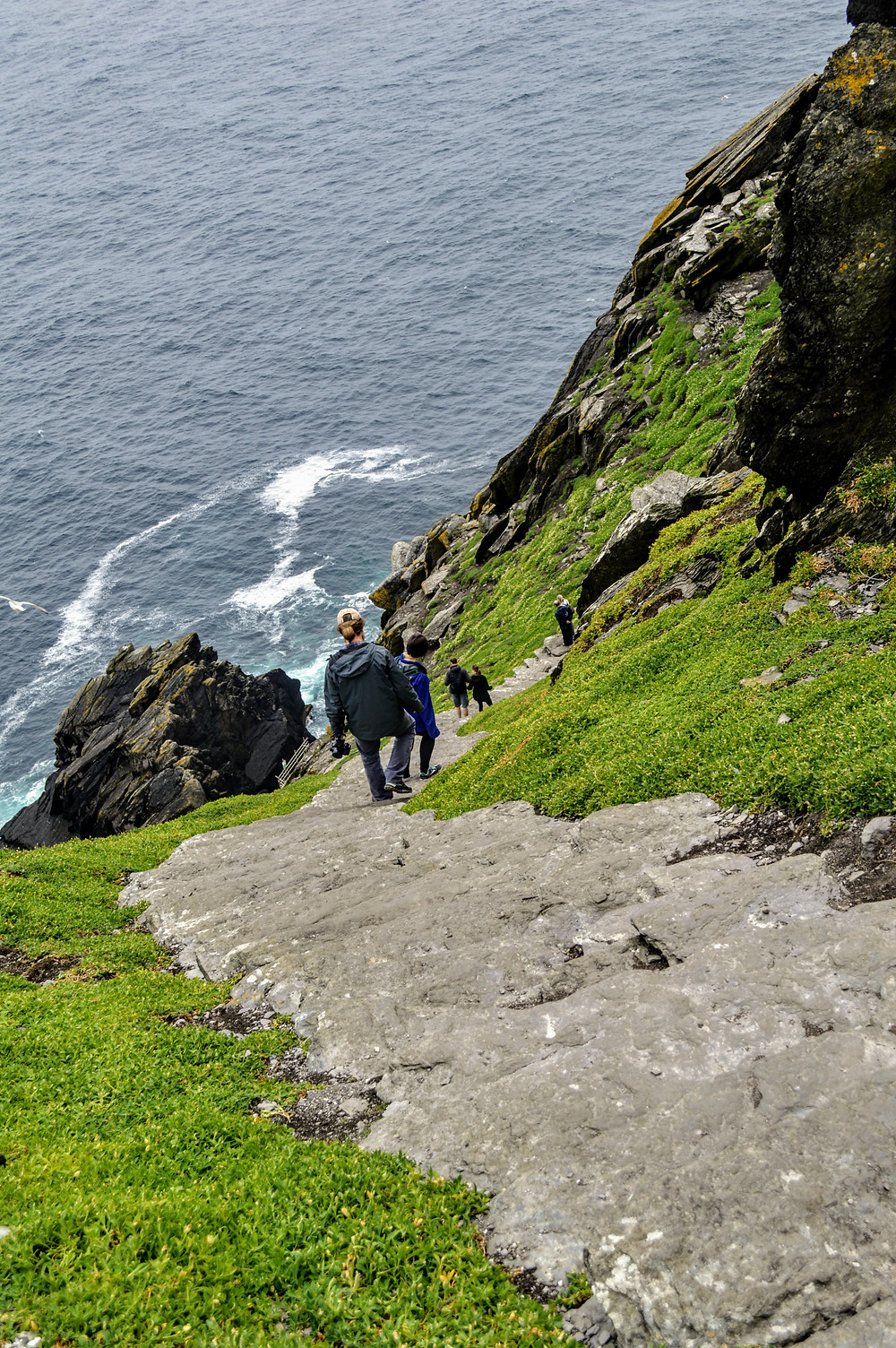 Skellig Michael, off the cost of the Kerry Peninsula in Ireland, ancient monk colony,