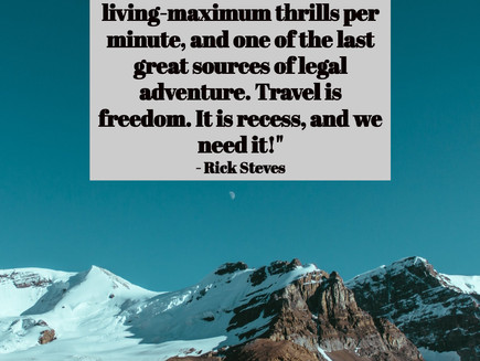 Rick Steve's Travel Guides, BUY THE BOOK and make your dreams happen.