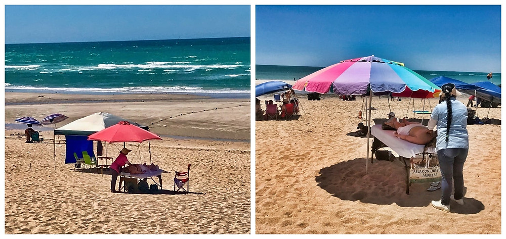 Massages on the beach, top things to see do, reasons to visit Puerto Penasco, Rocky Point Mexico