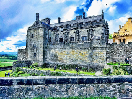Stirling Castle, a stately Scottish fortress perched atop a volcanic crag