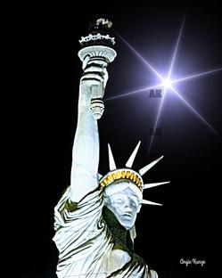"""lady liberty"" star flare"