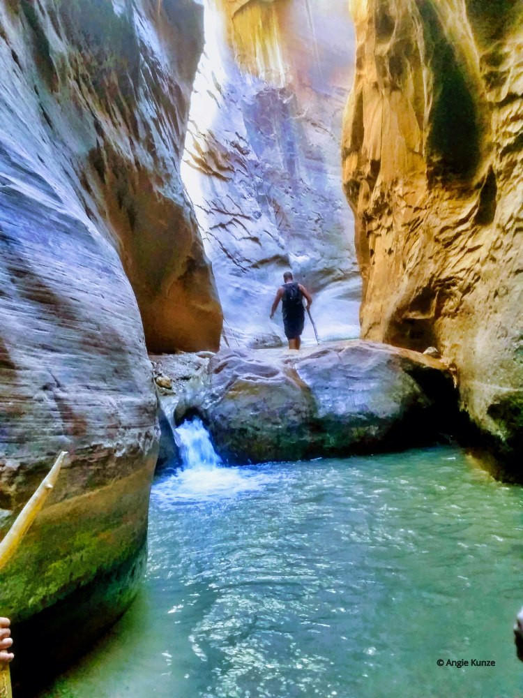 Orderville tributary Zion National park Utah, the Narrows hike, canyoning