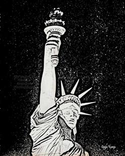 """lady liberty"" charcoal"