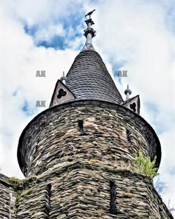 cochem castle turret, germany