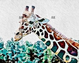 """giraffe #2"" orton style"
