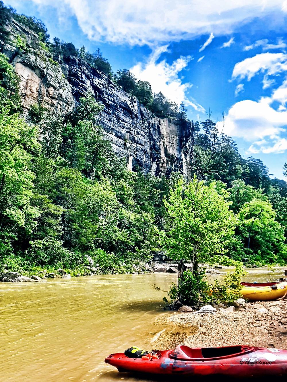 kayaking the Buffalo River in Arkansas
