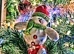 snowman artwork in my christmas art gallery menu