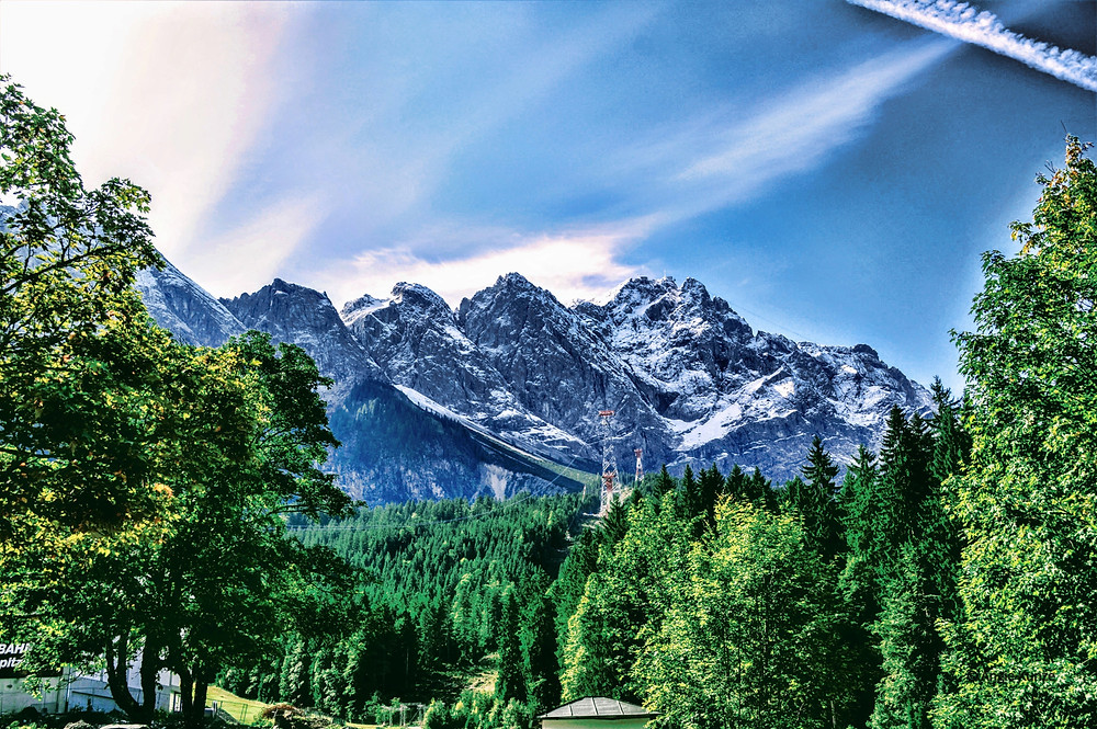 Zugspitze, Germany's highest mountain in Bavaria