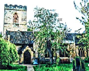 """""""holy trinity church"""" painted york england"""