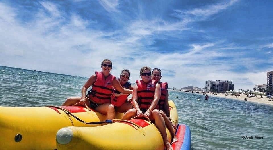 Banana Boat ride on the Sea of Cortez, Gulf of California in Puerto Penasco, Rocky Point Mexico