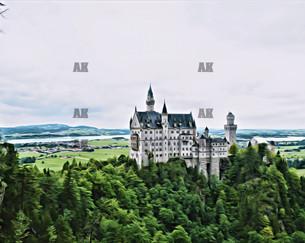 """""""neuschwanstein in the distance"""" schwangau germany"""