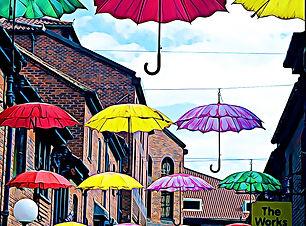 umbrellas of york england artwork in my color pop artwork menu