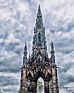 scott monument edinburgh scotland